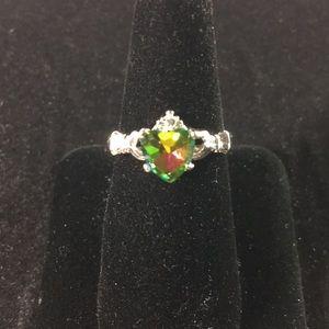 Jewelry - Multi-Color Heart Ring Bone Size 8.5
